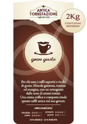 Caffè in grani Gran Gusto 2 kg