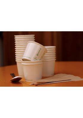bicchierini caffè ecologici e palette in legno